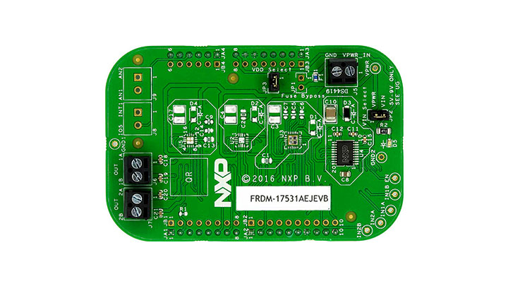 FRDM-17531AEJEVB : Freedom Expansion Board, 17531AEJ, Dual H-Bridge, Stepper Motor  thumbnail