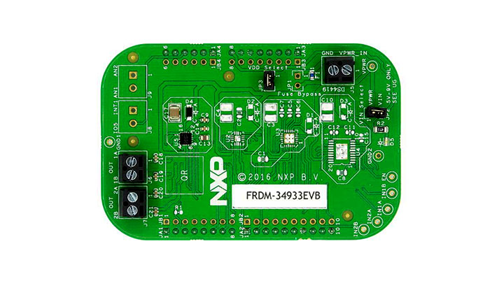 FRDM-34933EVB : Freedom Expansion Board, MC34933, H-Bridge Motor Driver, 2-7 V, 1.4 A, 200 kHz thumbnail