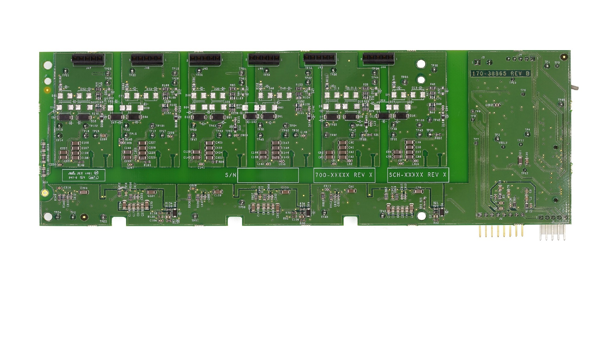 IGBT/SiC Power Gate Drive board Reference Design bottom view