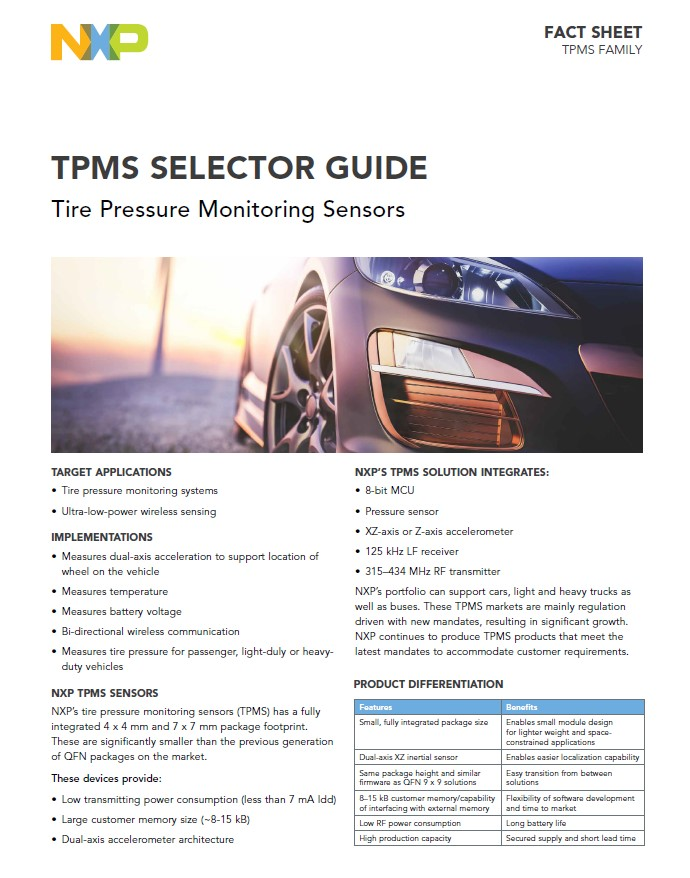 TPMS Family Selector Guide